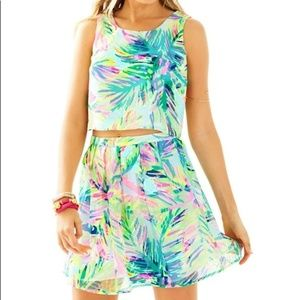 Lilly Pulitzer 2 piece set crop top and skirt